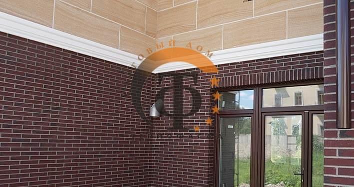Комбинированная отделка дома термопанелями